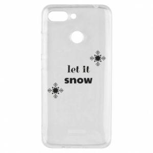 Phone case for Xiaomi Redmi 6 Let it snow