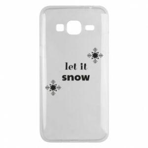 Phone case for Samsung J3 2016 Let it snow