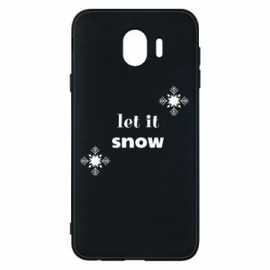 Phone case for Samsung J4 Let it snow
