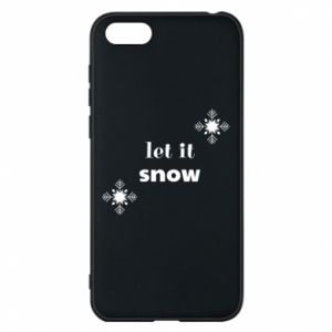 Phone case for Huawei Y5 2018 Let it snow