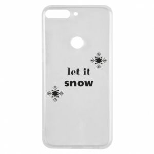 Phone case for Huawei Y7 Prime 2018 Let it snow