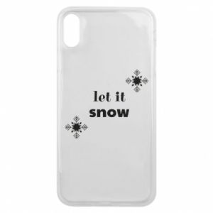 Phone case for iPhone Xs Max Let it snow