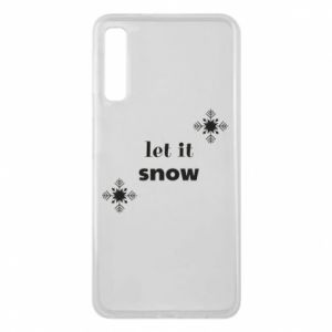 Phone case for Samsung A7 2018 Let it snow
