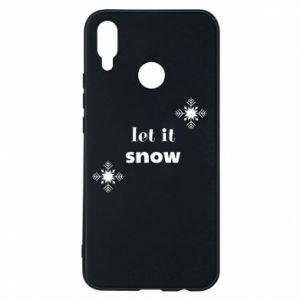 Phone case for Huawei P Smart Plus Let it snow