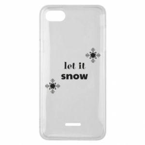 Phone case for Xiaomi Redmi 6A Let it snow