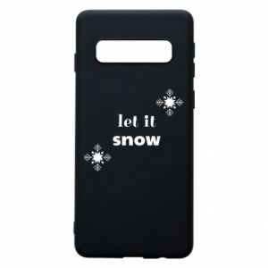 Phone case for Samsung S10 Let it snow