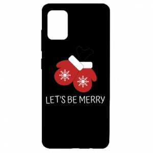 Etui na Samsung A51 Let's be merry