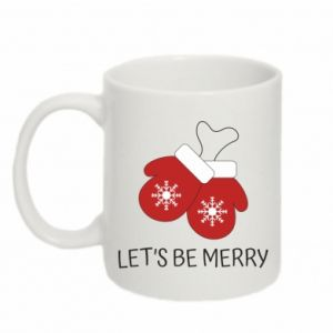 Mug 330ml Let's be merry