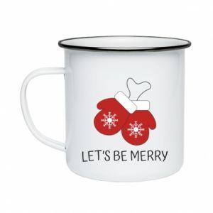 Kubek emaliowany Let's be merry