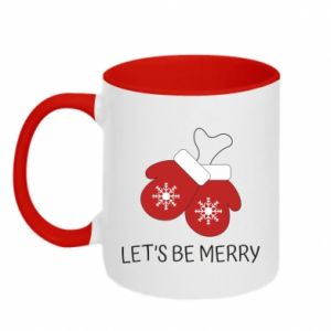 Two-toned mug Let's be merry