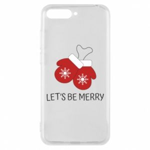 Phone case for Huawei Y6 2018 Let's be merry