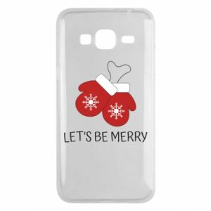 Phone case for Samsung J3 2016 Let's be merry