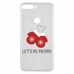 Phone case for Huawei Y7 Prime 2018 Let's be merry