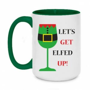 Two-toned mug 450ml Let's get elfed up!
