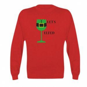 Kid's sweatshirt Let's get elfed up!