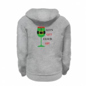 Kid's zipped hoodie % print% Let's get elfed up!