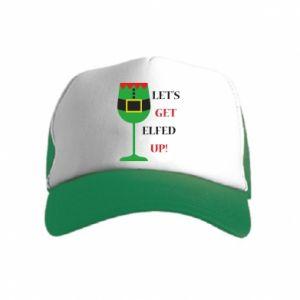 Kid's Trucker Hat Let's get elfed up!