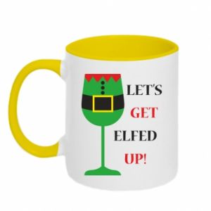 Two-toned mug Let's get elfed up!