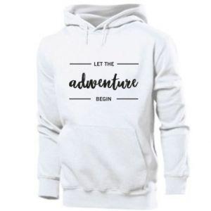Men's hoodie Let the adventure begin