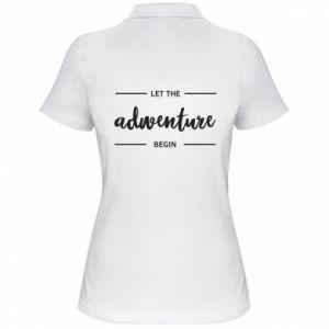 Damska koszulka polo Let the adventure begin