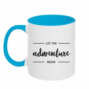 Two-toned mug Let the adventure begin