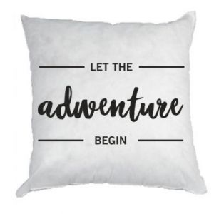 Poduszka Let the adventure begin