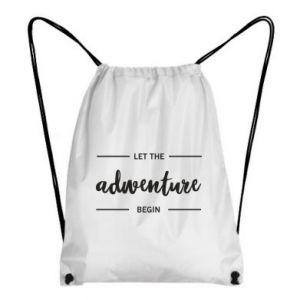 Plecak-worek Let the adventure begin