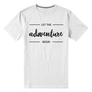 Męska premium koszulka Let the adventure begin