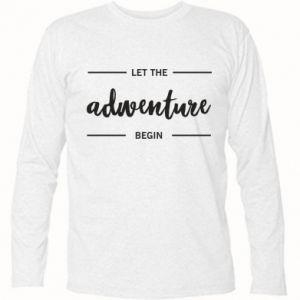Koszulka z długim rękawem Let the adventure begin