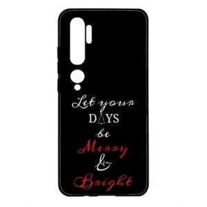 Xiaomi Mi Note 10 Case Let your days be merry and bright