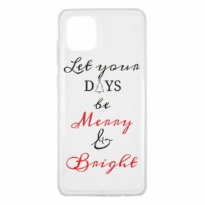 Samsung Note 10 Lite Case Let your days be merry and bright