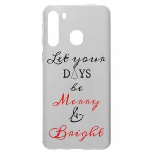 Etui na Samsung A21 Let your days be merry and bright