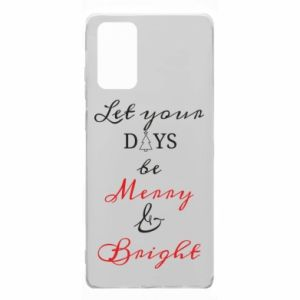 Etui na Samsung Note 20 Let your days be merry and bright
