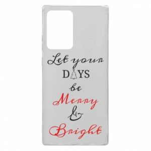 Etui na Samsung Note 20 Ultra Let your days be merry and bright