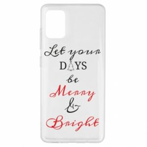 Etui na Samsung A51 Let your days be merry and bright