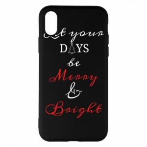 iPhone X/Xs Case Let your days be merry and bright