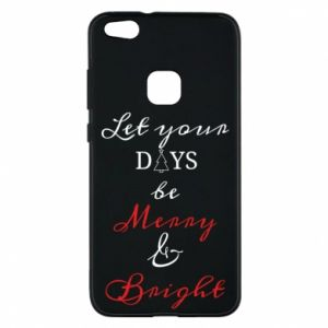 Huawei P10 Lite Case Let your days be merry and bright