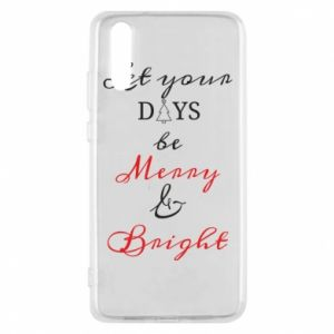 Huawei P20 Case Let your days be merry and bright