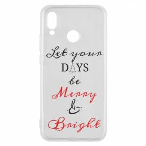Huawei P20 Lite Case Let your days be merry and bright