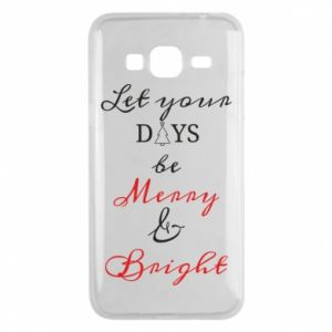 Samsung J3 2016 Case Let your days be merry and bright
