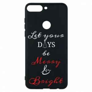 Huawei Y7 Prime 2018 Case Let your days be merry and bright