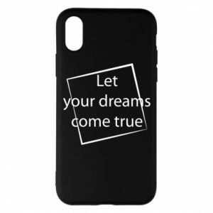Etui na iPhone X/Xs Let your dreams come true