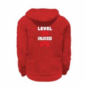 Kid's zipped hoodie % print% Level 25
