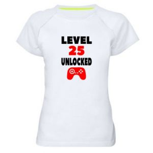 Women's sports t-shirt Level 25