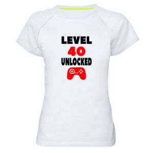 Women's sports t-shirt Level 40