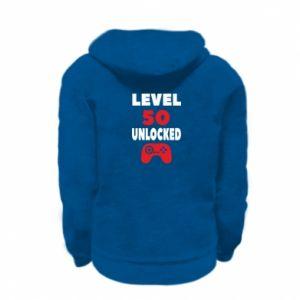 Kid's zipped hoodie % print% Level 50