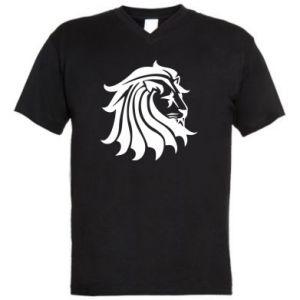 Męska koszulka V-neck Lew