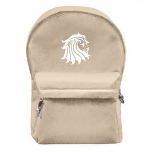 Backpack with front pocket Lion