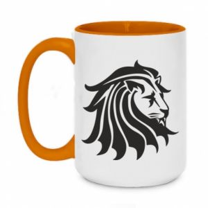 Two-toned mug 450ml Lion