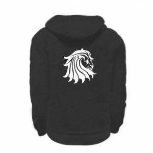 Kid's zipped hoodie % print% Lion